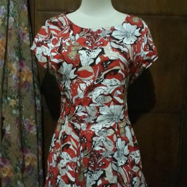 Red Full Motif Dress