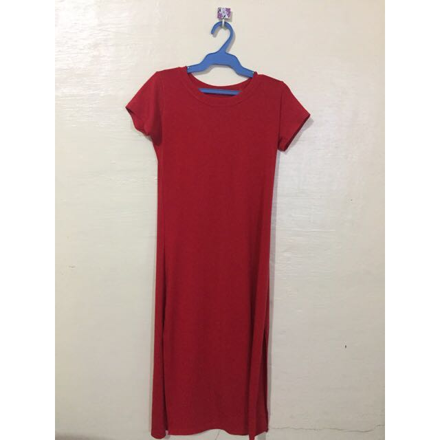 RED MAXI DRESS (with slits)