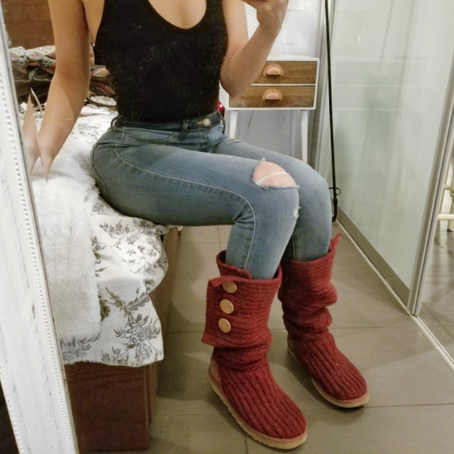 Red Ugg Cardy Boots