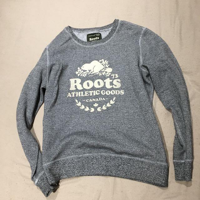 Roots grey crewneck