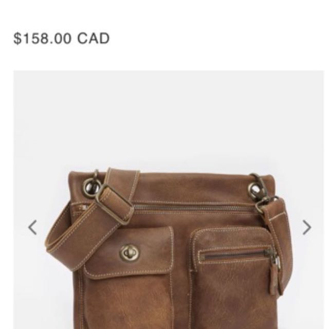 Roots Leather Side Bag