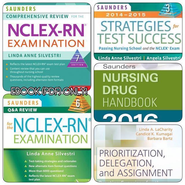 Saunders nclex rn bundle pdf 5 ebooks textbooks on carousell photo photo fandeluxe Choice Image