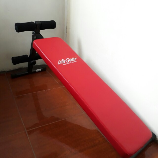 Sit Up Bench LifeGear Workout Bench Fitness Exercise