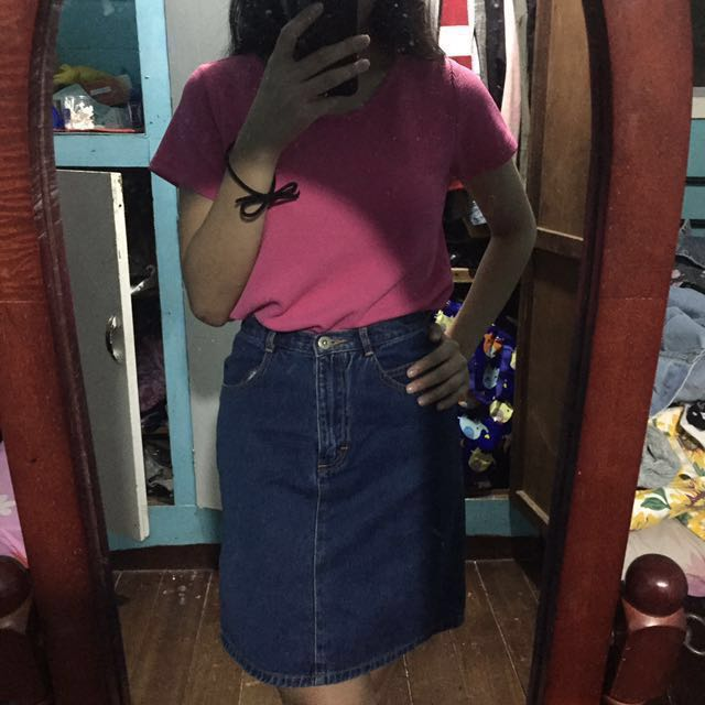 SM Woman pink cropped top