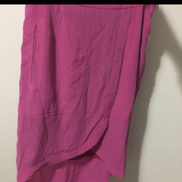 Socialight pink spilt skirt