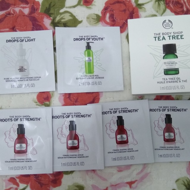 The Bodyshop samples