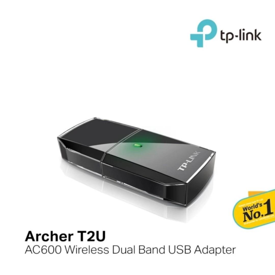TP-LINK - AC600 Mini Wireless Dual Band USB WiFi Adapter, Archer T2U
