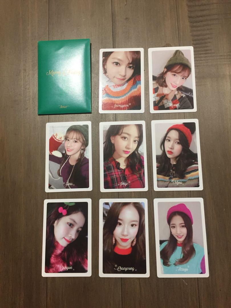Twice Merry & Happy Preorder Photocards