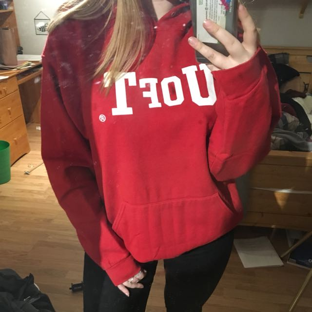 University Of Toronto Oversized Red Sweater