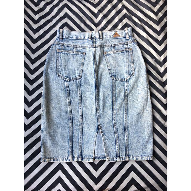 Vintage Acid Wash Skirt