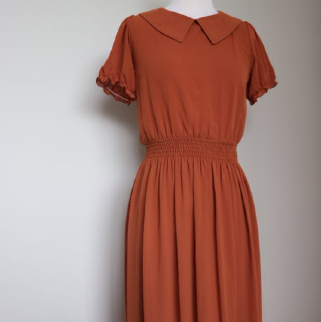 Vintage burnt orange dress