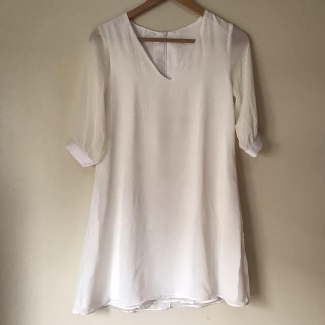 White Beach Short Dress