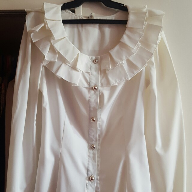White Formal Top