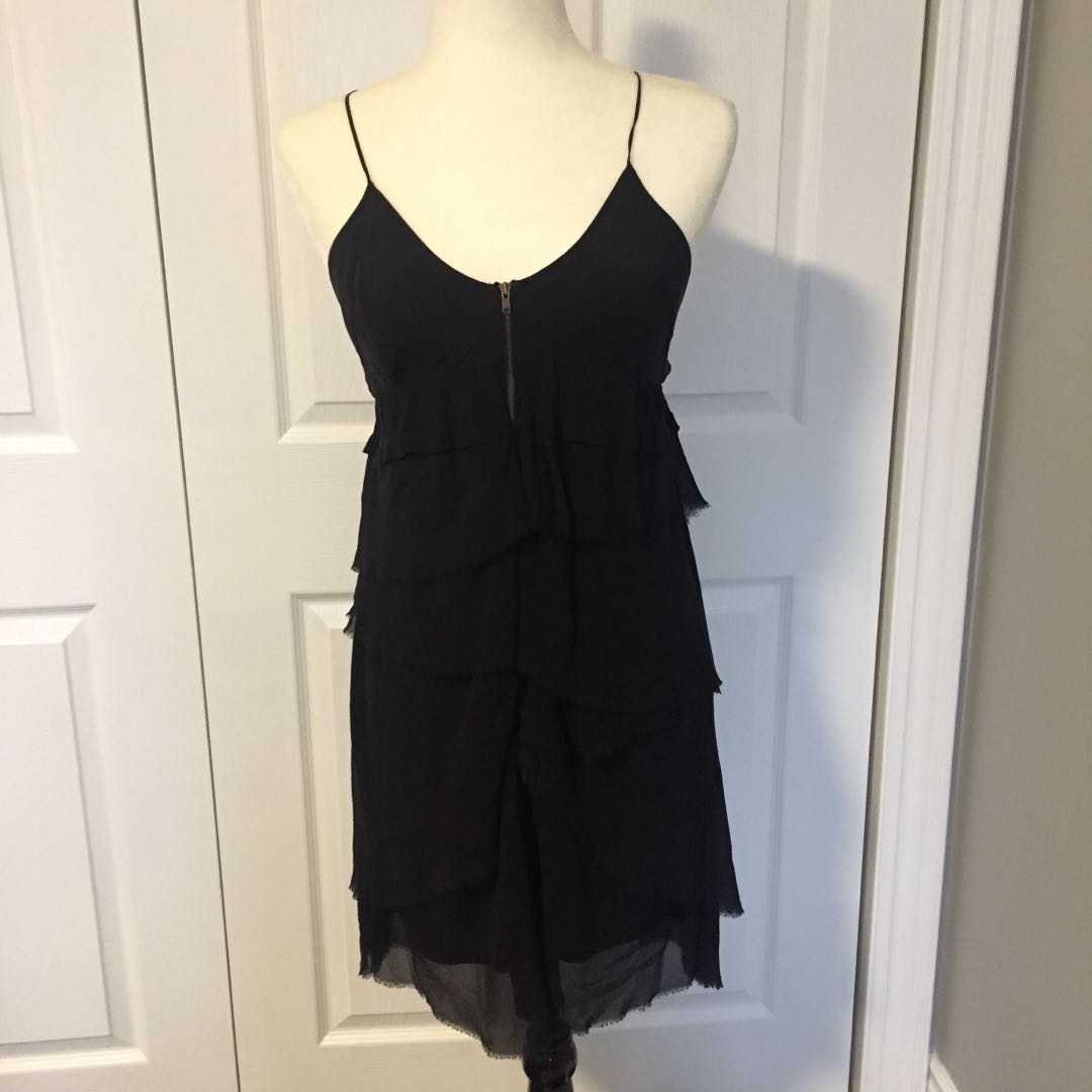 Wilfred Silk Tiered Layered Dress Size 4