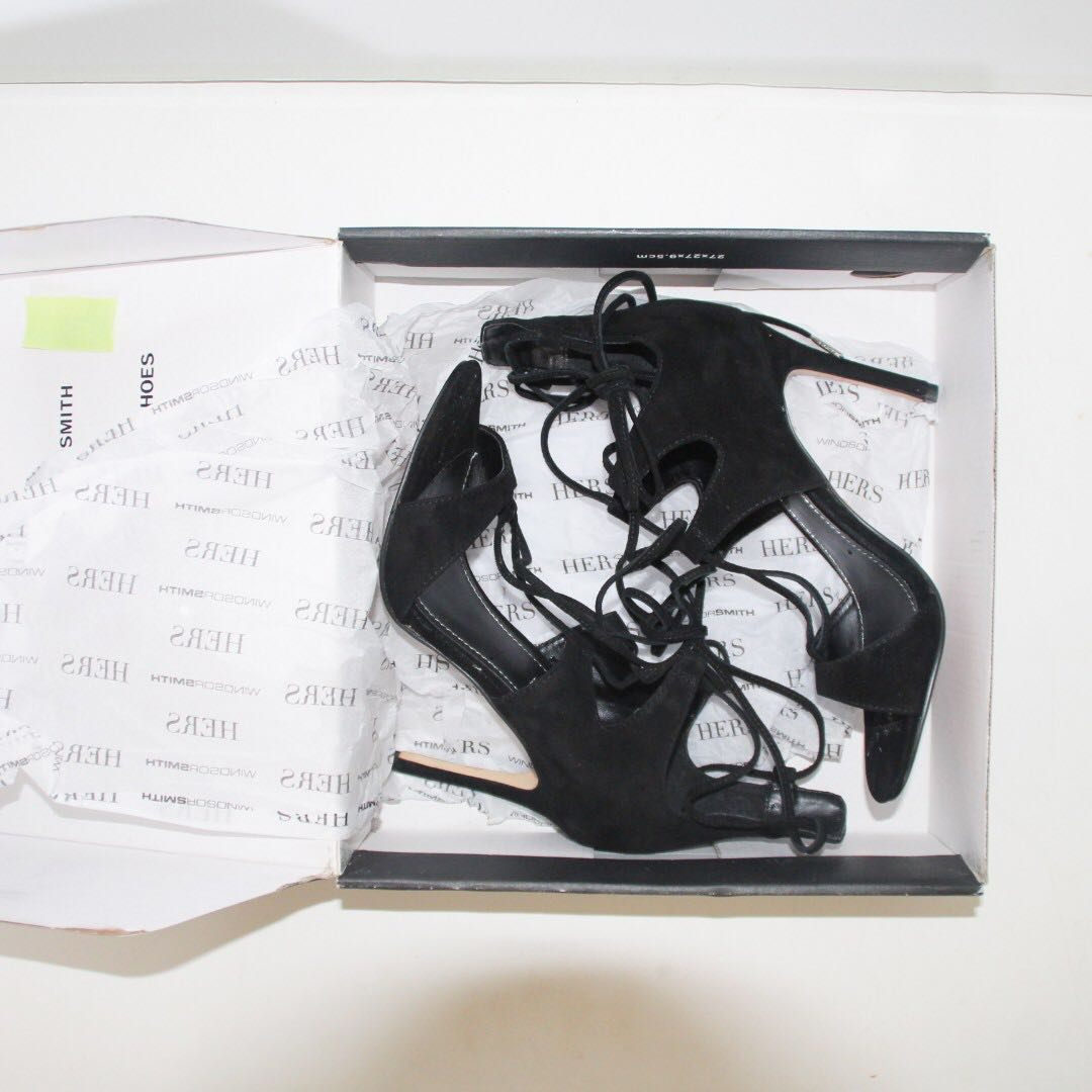 Windsor Smith - Lazy Black Suede Heel