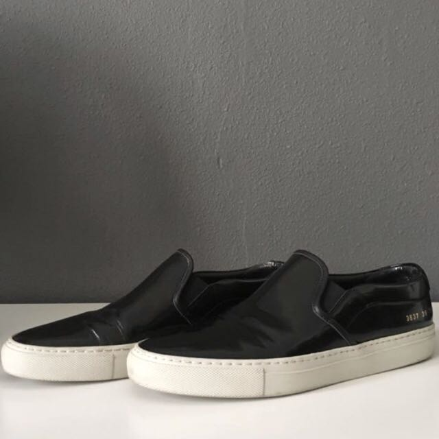 Common Projects Black Leather Slip