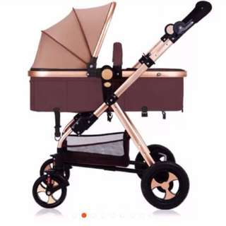 Stroller GOLD Colour 2 set NEWBORN