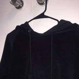 Zumiez Black Velvet Hoodie