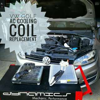 VW Volkswagen Golf: AirCon System Cooling_Coil replacement