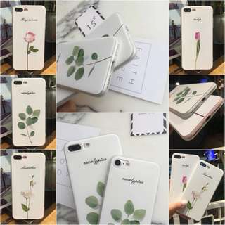 Apple iPhone X 5s 6s 7 8 Plus 花草治癒系列立體浮雕TPU軟殼 (多款型號適用)