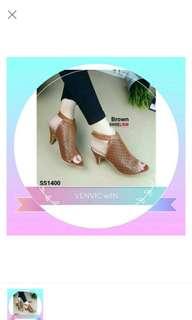 Murah Meriah High Heels SL 17 Tan
