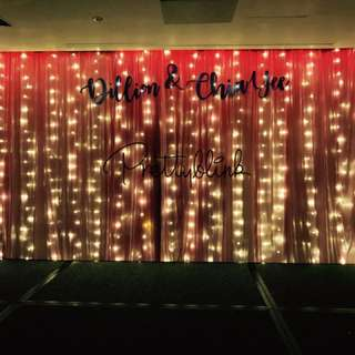 [RENTAL] Stage Fairylight Backdrop✨💕🎉