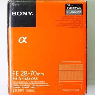Lens: Sony FE 28-70mm f3.5-5.6 OSS - Kit Lens for Sony Full Frame E Mount