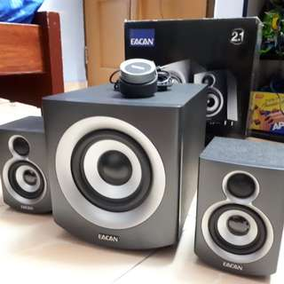 Original EACAN 2.1 Channel Speakers + Subwoofer