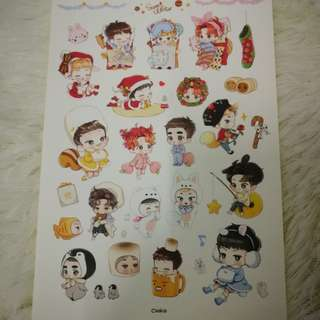 EXO sweet winter stickers