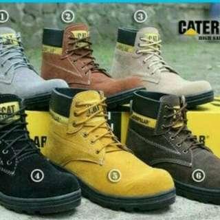 Sepatu pria Safety Boots Caterpillar