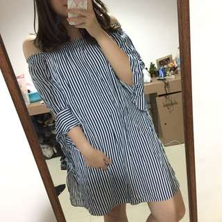 Strips double function dress