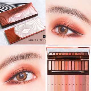 🍁Sunset City🌄啞光大地色眼影盤 Instagram超🔥Urban Decay Naked Heat Palette Dupe 替代色眼影 返工出街初學者入門必備
