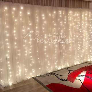 [SETUP RENTAL] Tulle Fairylight Backdrop/ Photobooth💕✨🎉