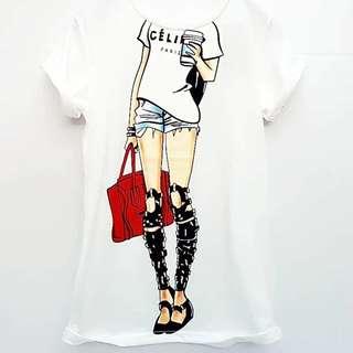 Kaos Celine Paris. Import