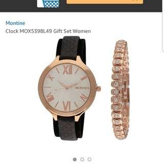全新MONTINE手錶加手鍊set包郵