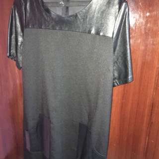 Zalora faux leather dress size M
