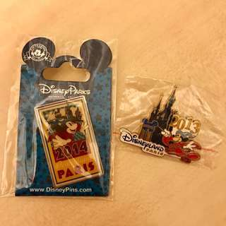 Paris Disney mickey 2013 2014 pin
