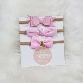 Baby Headband 3pcs Ribbon