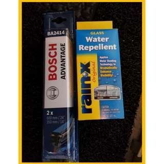 Bosch wiper RainX glass water repellent