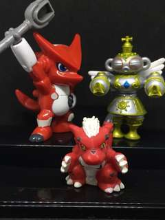 3 Vintage Digimon Mix Original Bandai 2001 and others