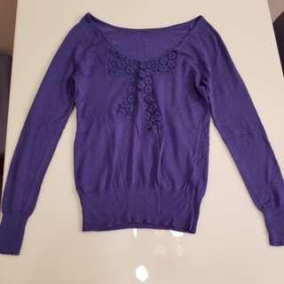 Kookai purplish blue top