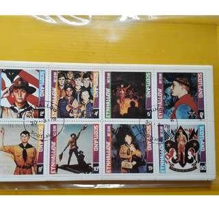 EYNHALLOW , SCOTLAND - 1978 - Block of 8  - CTO Stamp -