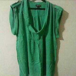 Plus Size Topshop Green Blouse