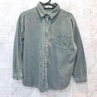 🚚 墨綠色 燈蕊絨 襯衫