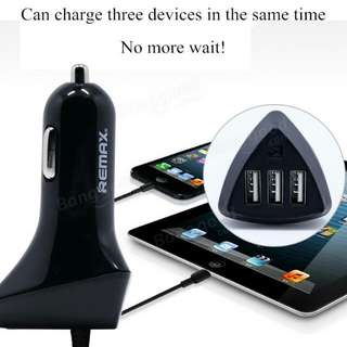 Remax Aliens 3 USB ports car charger