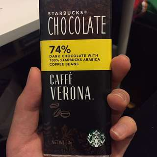 Starbucks dark chocolate