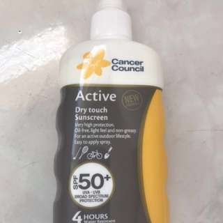 Cancer council Active Dry Touch Sunscreen