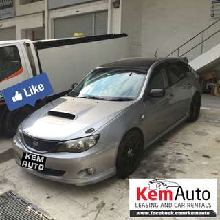 Sporty Loud Manual SUBARU IMPREZA 5D 2.0 RS with HKS exhuast / Api coilover for car rental