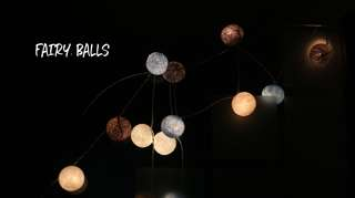 Cotton balls fairylights