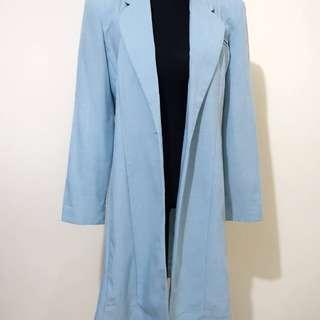 Pre-loved Blue Long Blazer Coat